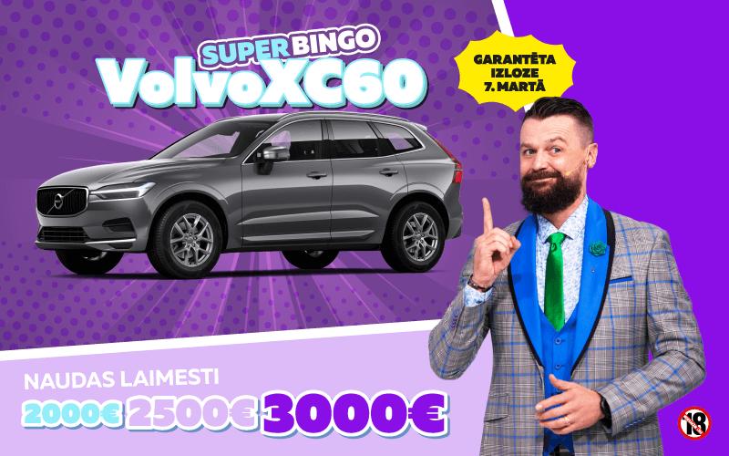 SuperBingo papildspēle Superbingo Volvo XC60