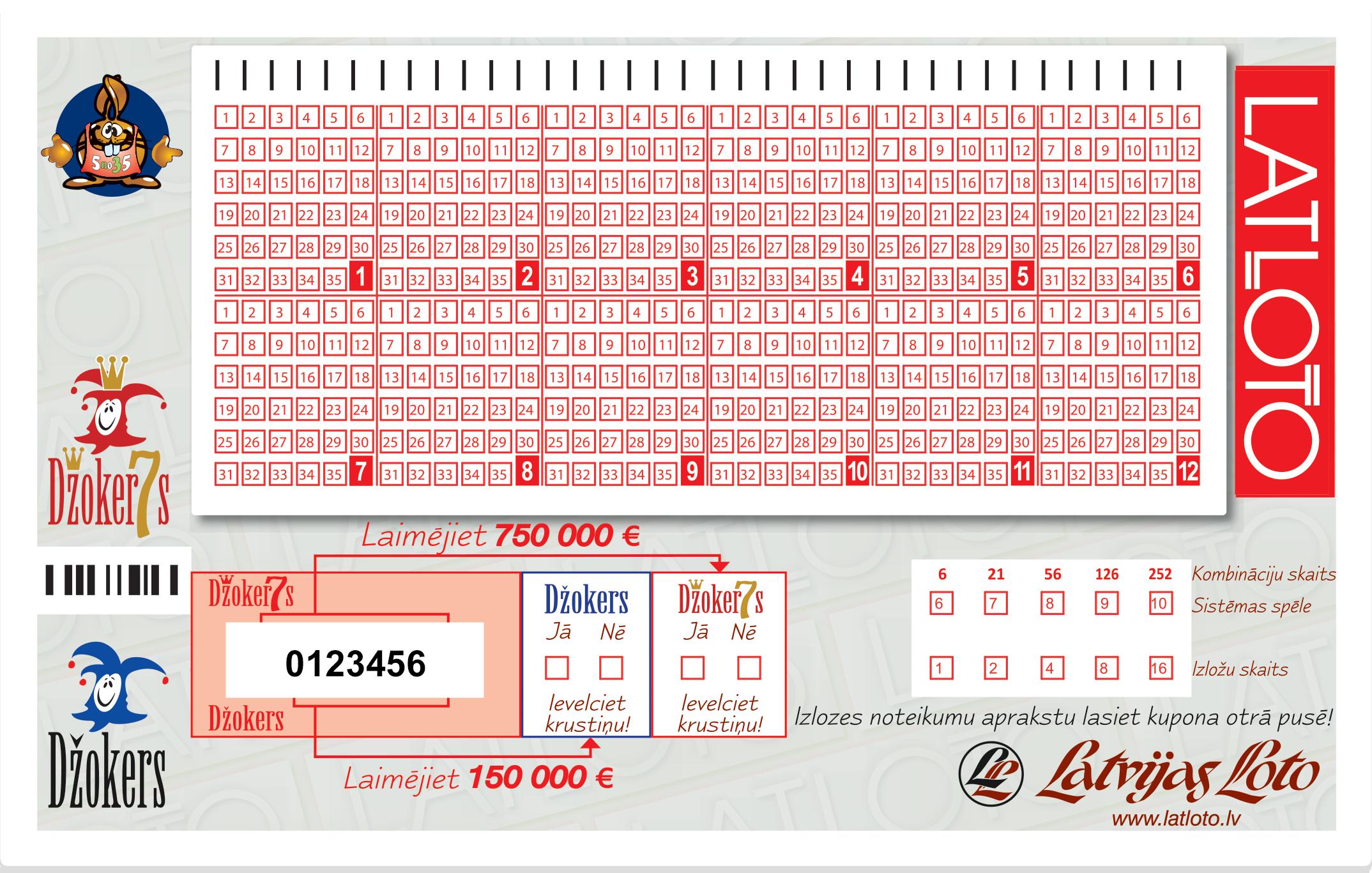 Latloto 5 no 35 bilet