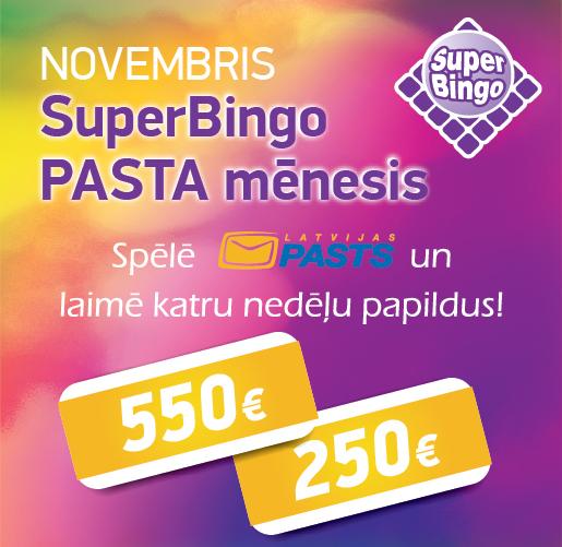 Novembris SuperBingo Pasta mēnesis