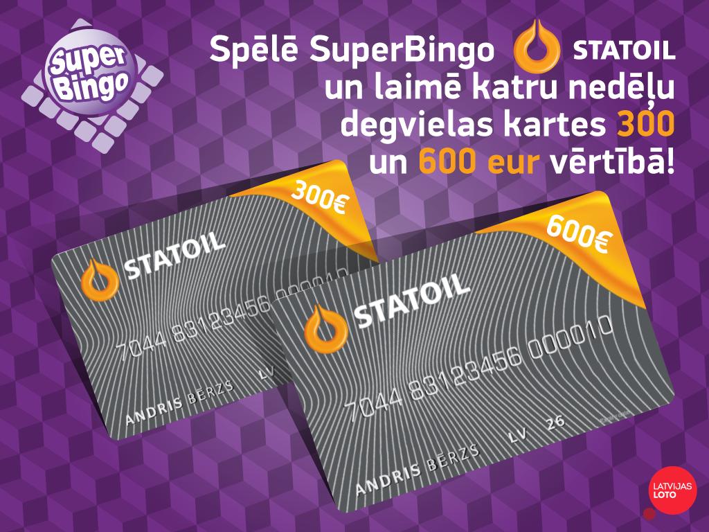 Marts SuperBingo Statoil mēnesis