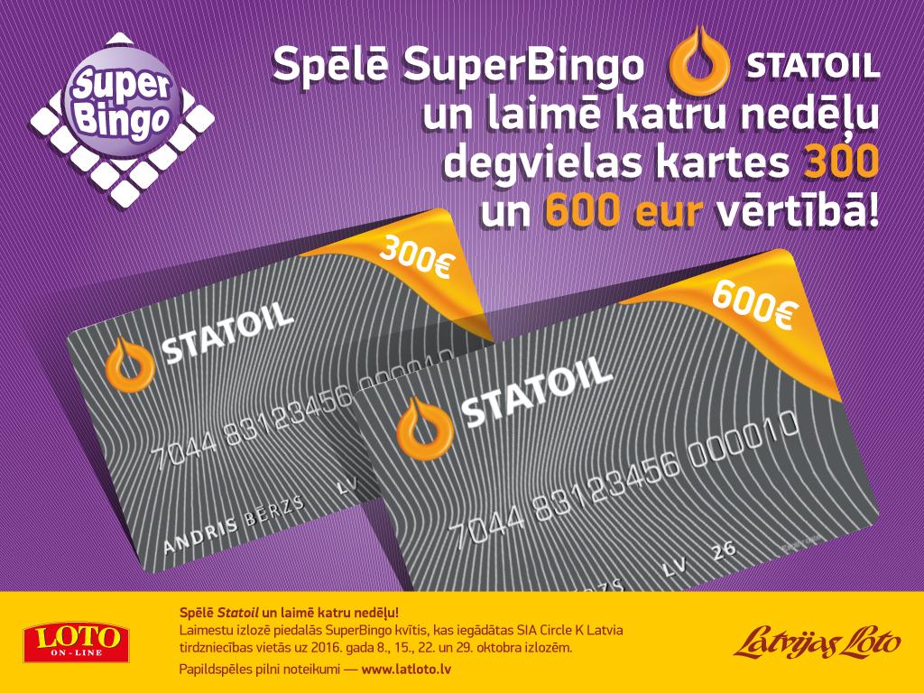 Oktobris -  SuperBingo Statoil mēnesis