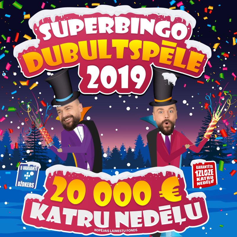SUPERBINGO DUBULTSPĒLE 2019