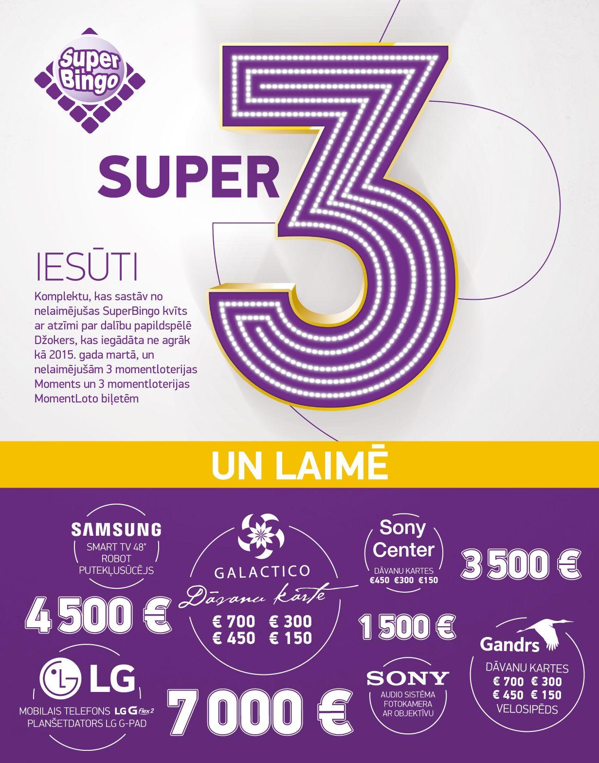 SuperBingo papildspele Super 3